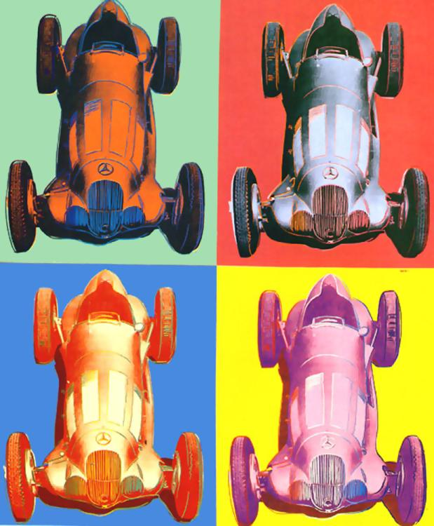 famous painting Benz Rennwagen of Andy Warhol
