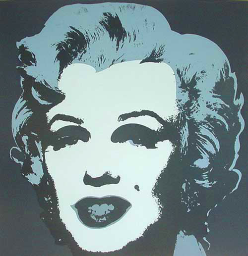 famous painting Marylin Grau of Andy Warhol