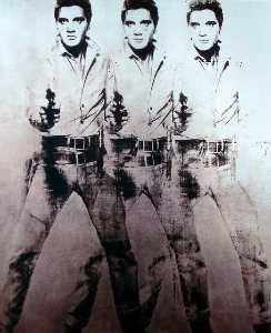Andy Warhol - Dreifacher Elvis
