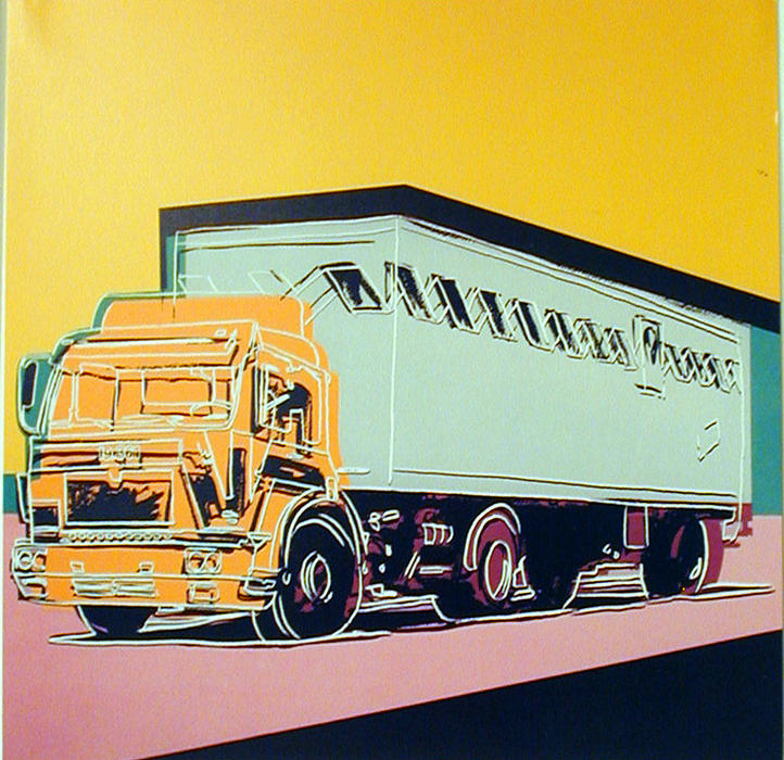 famous painting lkw ankündigung of Andy Warhol