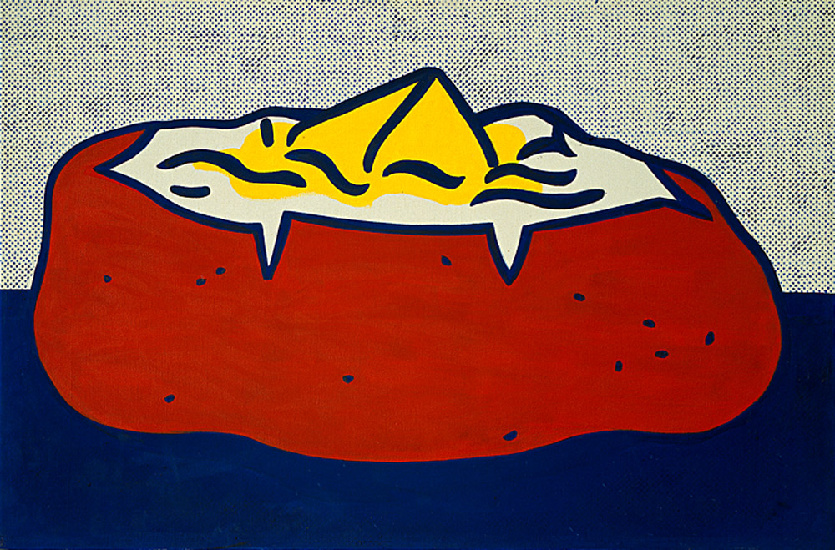 famous painting Bratkartoffel of Roy Lichtenstein