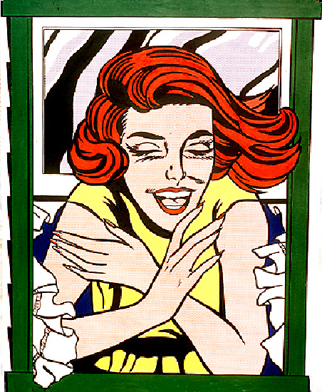 famous painting Mauer of Roy Lichtenstein
