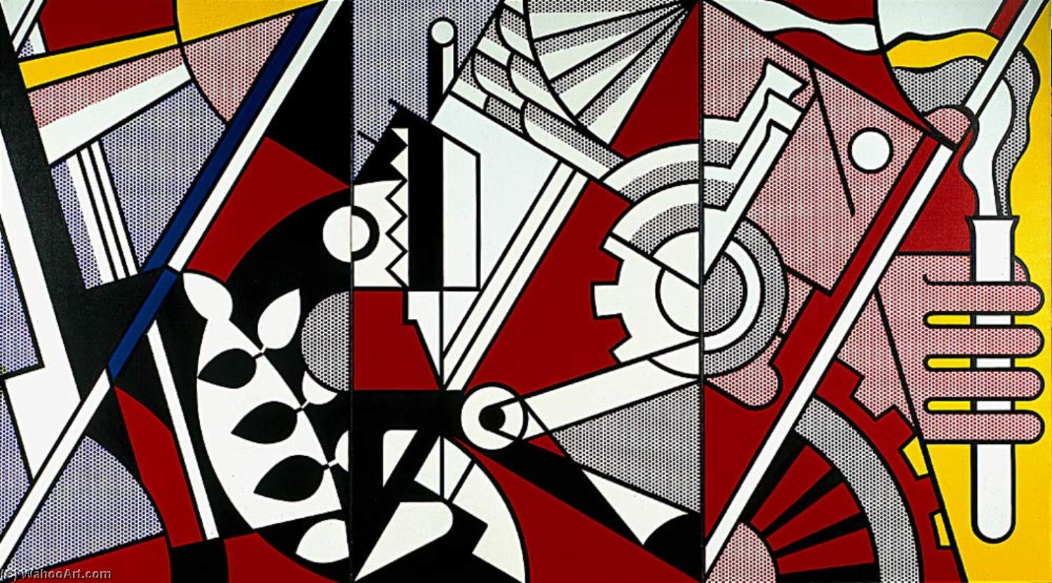 famous painting Frieden durch Chemie of Roy Lichtenstein