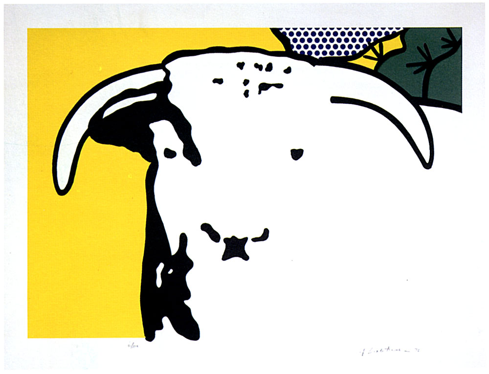 famous painting stier kopf of Roy Lichtenstein
