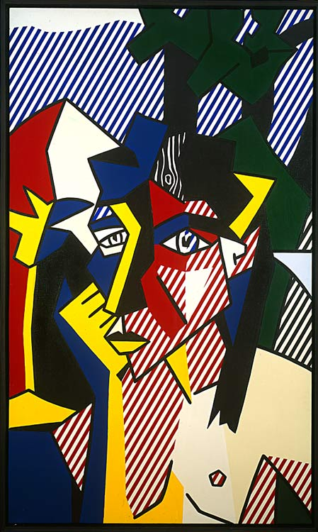 famous painting frau in landschaft of Roy Lichtenstein