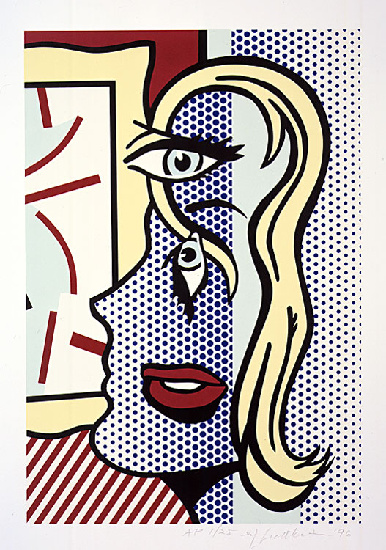 famous painting Kunstkritiker of Roy Lichtenstein