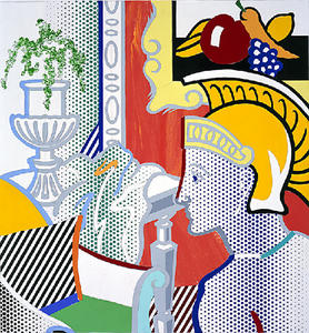 Roy Lichtenstein - collage für inneres mit ajax