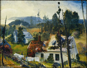 George Wesley Bellows - Die Red Vine Matinicus Insel  USA