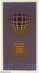 Victor Vasarely - abstrakt komposition 10