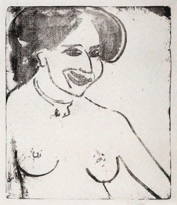 famous painting Nude lächelnde of Ernst Ludwig Kirchner
