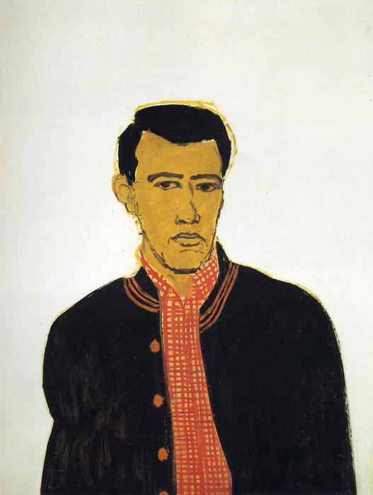 famous painting titel jacke  of Alex Katz
