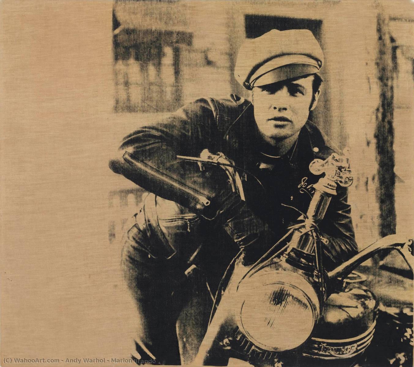 famous painting marlon brando of Andy Warhol