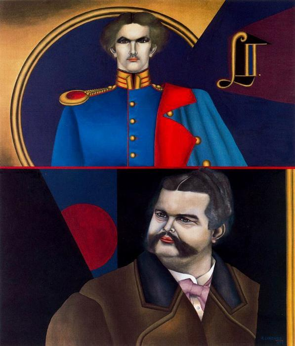 famous painting Ludwig II of Richard Lindner