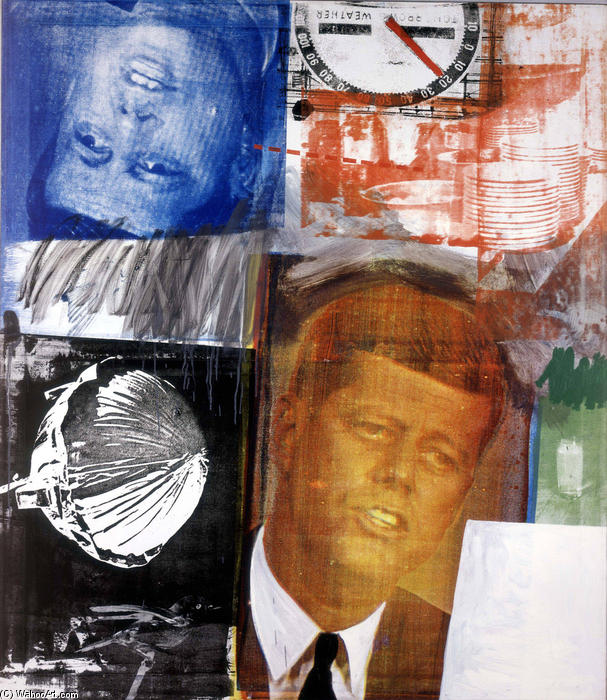 famous painting ohne titel of Robert Rauschenberg