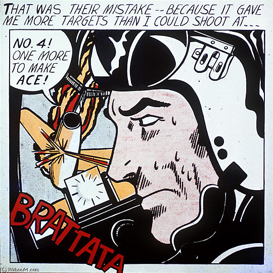 famous painting Brattata of Roy Lichtenstein