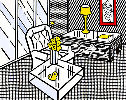 famous painting die höhle of Roy Lichtenstein