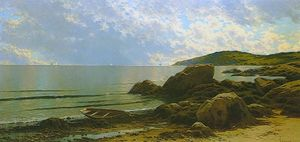 Alfred Thompson Bricher - Ebbe, Hetherington Cove, Grand Manan Island, New Brunswick