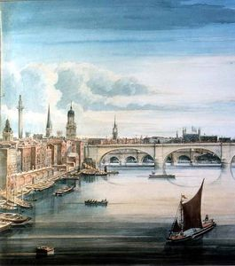 Gideon Yates - Westen ansicht von new london brücke und old london Bridge_2