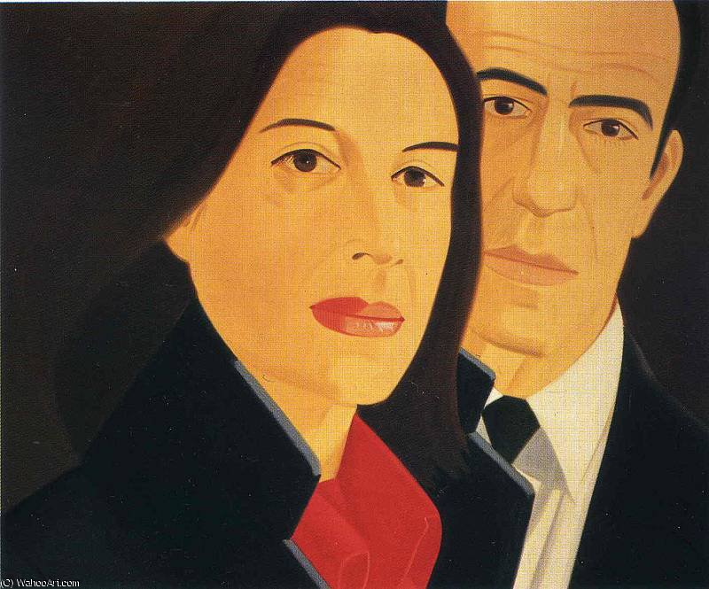 famous painting Ohne Titel (4339) of Alex Katz