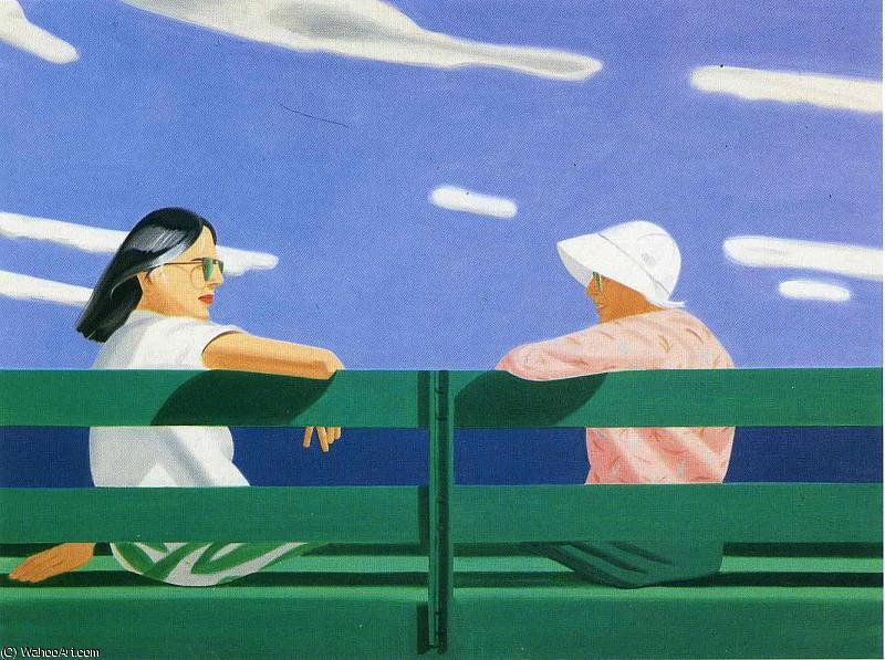 famous painting ohne titel 8707   of Alex Katz