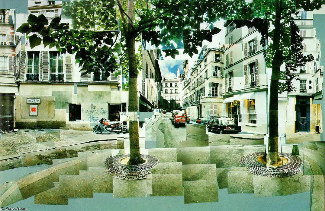 famous painting Fürstenberg paris bekannt of David Hockney