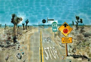 David Hockney - Pearblossom autobahn