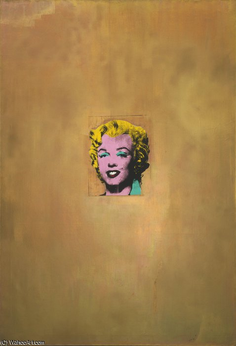 famous painting Gold marilyn of Andy Warhol