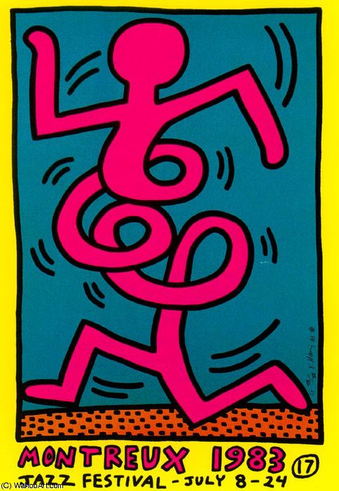 famous painting ohne titel 235   of Keith Haring