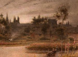 Albert Goodwin - Peterborough kathedrale