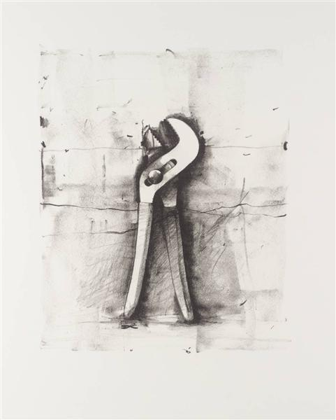 famous painting ohne titel of Jim Dine