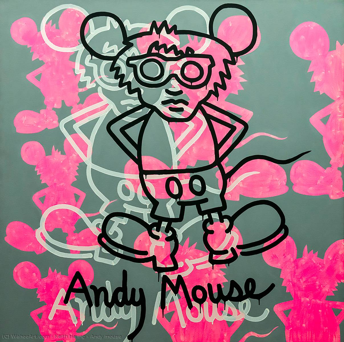 famous painting Andy maus of Keith Haring