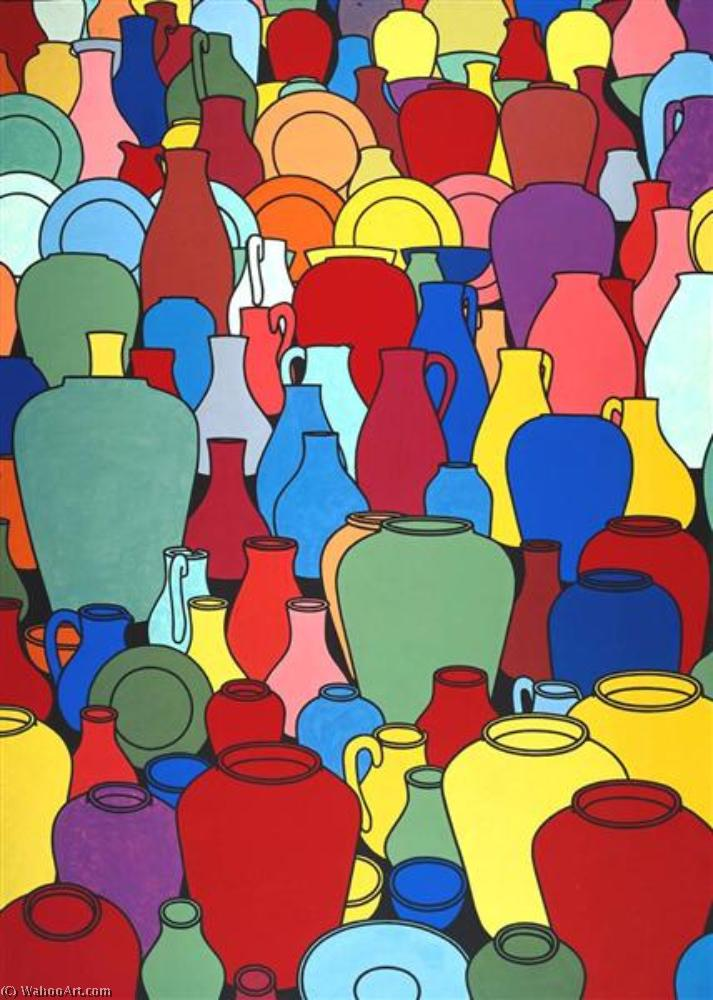 famous painting töpferware of Patrick Caulfield