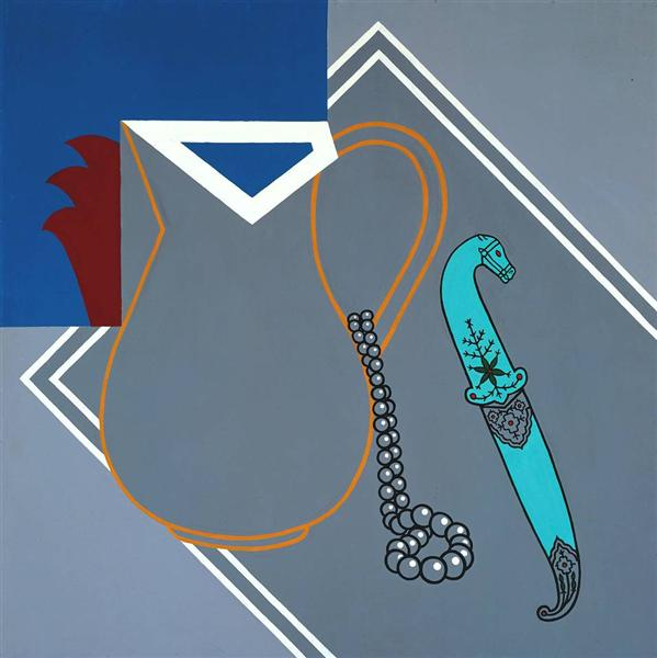 famous painting stillleben mit dolch  of Patrick Caulfield