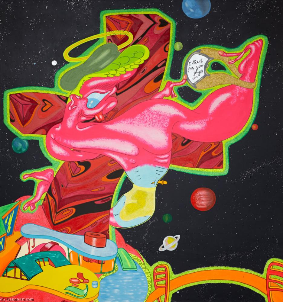famous painting kein Titel 2   of Peter Saul