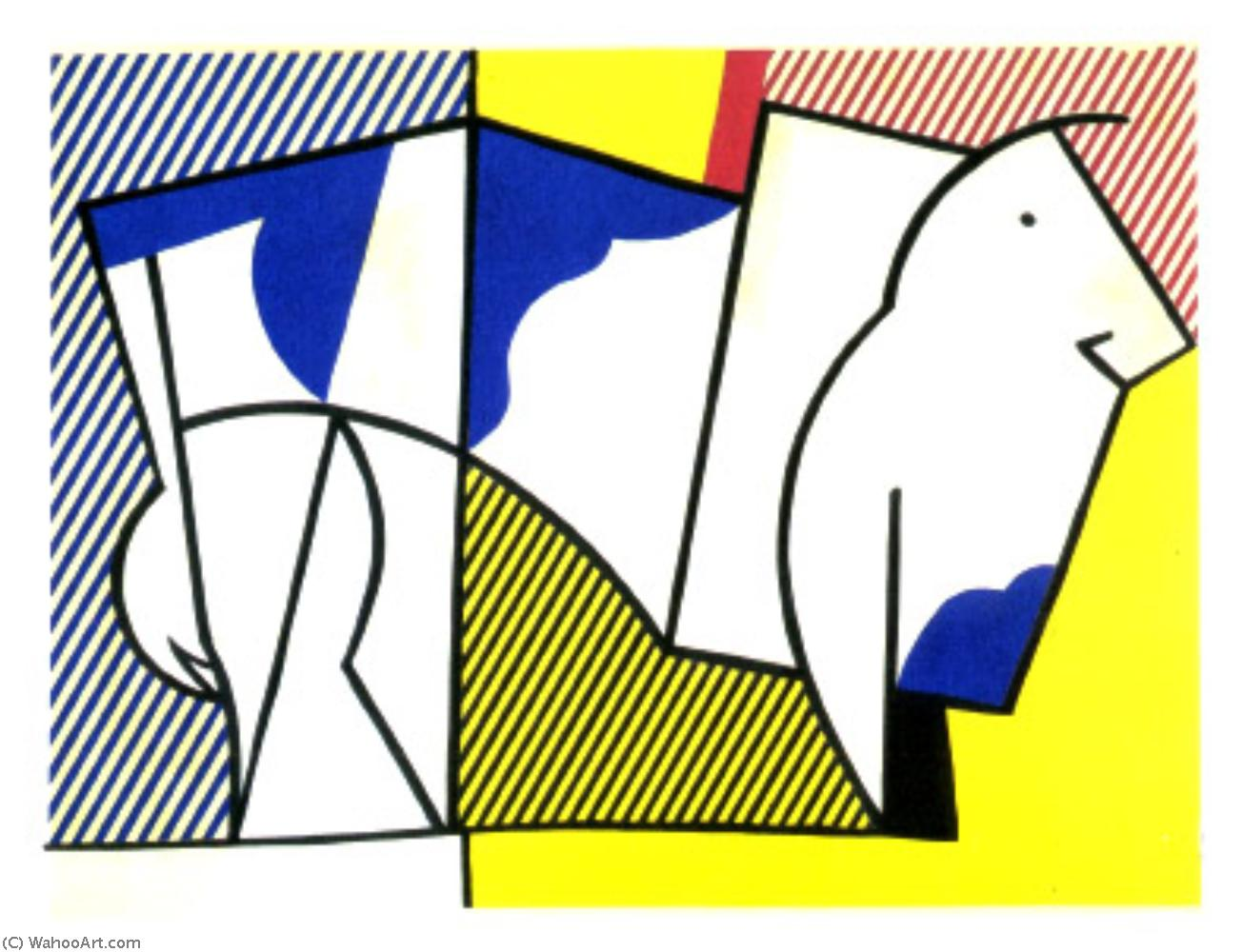 famous painting Stier 1973   of Roy Lichtenstein
