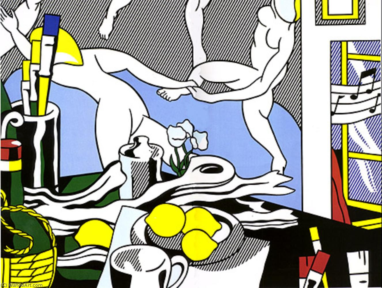 famous painting Studio Die tanz  of Roy Lichtenstein