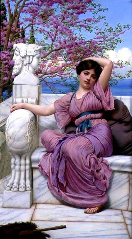 famous painting Mattigkeit of John William Godward